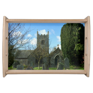 Colan Church Near Newquay Cornwall England Serving Tray
