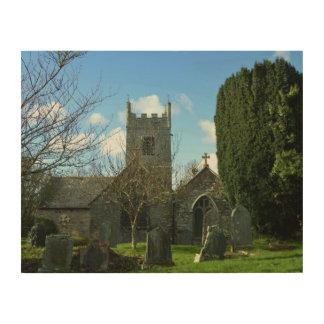 Colan Church Near Newquay Cornwall England Wood Wall Decor