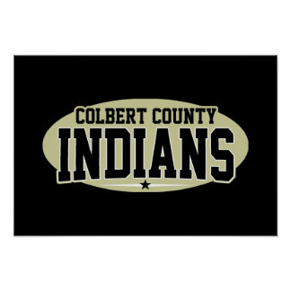 Colbert County; Indians Poster