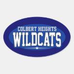 Colbert Heights High School; Wildcats Oval Sticker