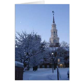 Colby College in snow Greeting Card
