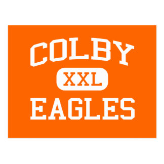 Colby - Eagles - Colby High School - Colby Kansas Postcard