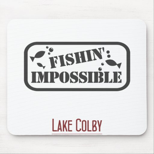 colby fishin imposs mouse pad