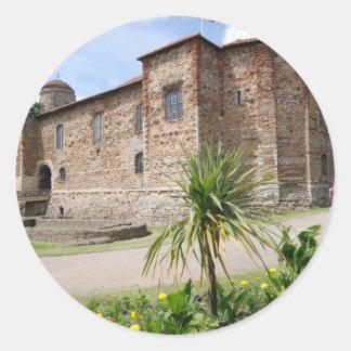 Colchester Castle Round Sticker