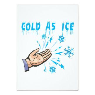 Cold As Ice 13 Cm X 18 Cm Invitation Card