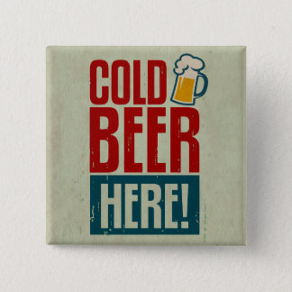 Cold Beer 15 Cm Square Badge