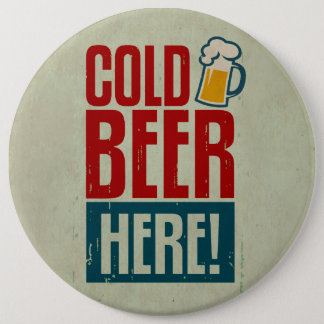 Cold Beer 6 Cm Round Badge