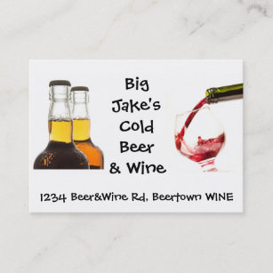 No beer liquor business cards business card printing zazzle uk cold beer and wine liquor store business card reheart Images