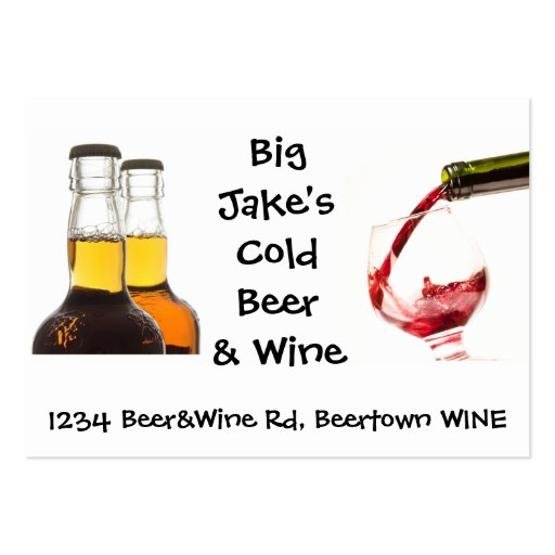 Cold Beer and Wine Liquor Store Business Card