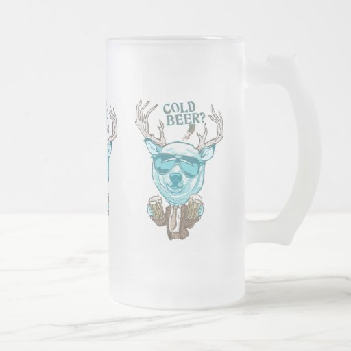Cold Beer? Funny Polar Beer Deer Hybrid Coffee Mug
