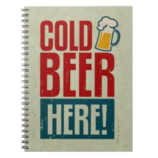 Cold Beer Spiral Notebooks