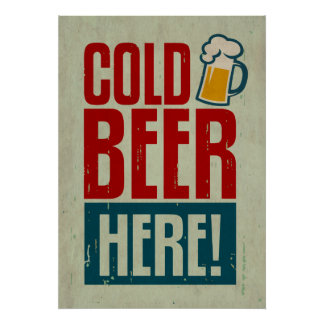 Cold Beer Poster
