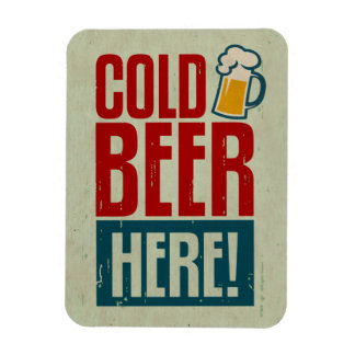 Cold Beer Rectangular Photo Magnet