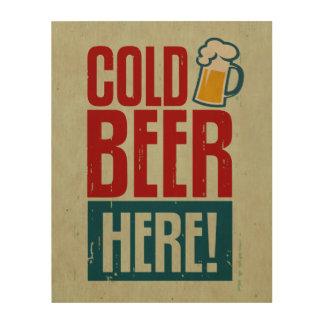 Cold Beer Wood Prints