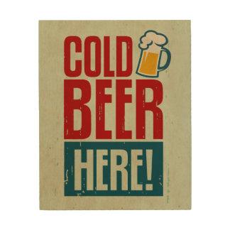Cold Beer Wood Print