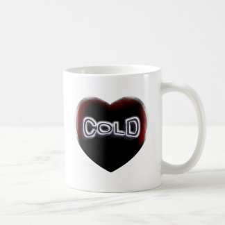 Cold Black Heart Basic White Mug