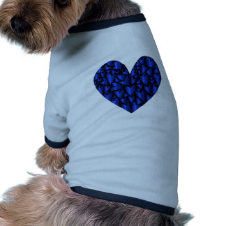 Cold Blue Heart Ringer Dog Shirt