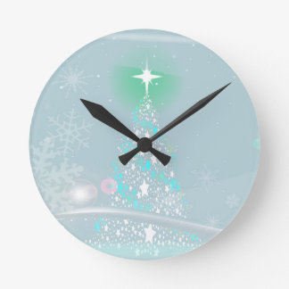 Cold Christmas Round Clock