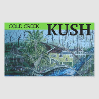 COLD CREEK KUSH RECTANGULAR STICKER
