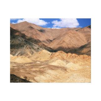 Cold Desert Landscape, Ladakh Canvas Print
