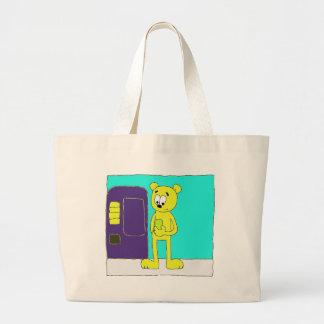 Cold Drink Bear Tote Bag