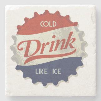 Cold Drink Cola Bottle Cap Stone Beverage Coaster