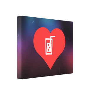 Cold Drinks Pictogram Gallery Wrap Canvas