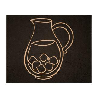 Cold Drinks Pictogram Cork Paper Print