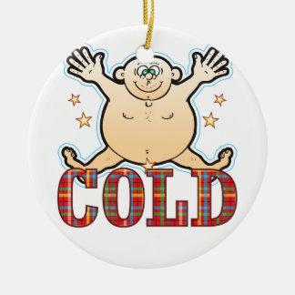 Cold Fat Man Round Ceramic Decoration