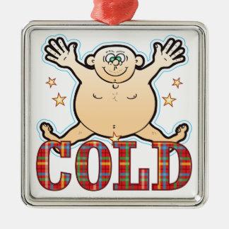 Cold Fat Man Silver-Colored Square Decoration