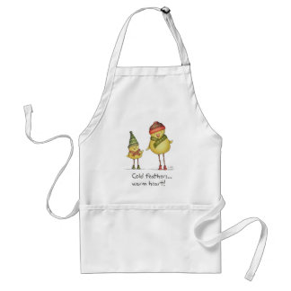 Cold Feathers, Warm Heart Apron