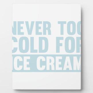 Cold Ice Cream Plaque