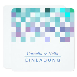 Cold mint colors invitation