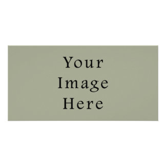 Cold Moss Green Color Trend Blank Template Picture Card
