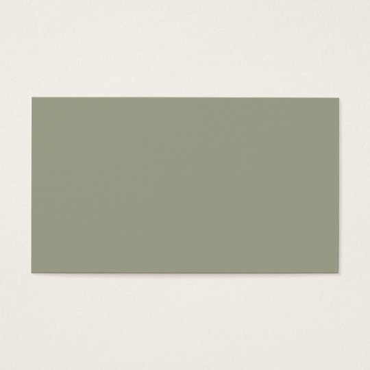 Cold Moss Muted Neutral Earthtone Green Colour Business Card