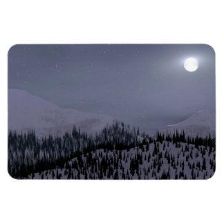 Cold Night In Idaho Rectangular Photo Magnet