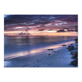 Cold Ocean Beach Front 13 Cm X 18 Cm Invitation Card