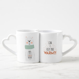Cold outside / Keep you warm- Romantic Lovers Mug