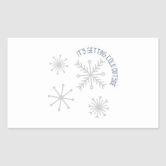 Cold Outside Rectangular Sticker