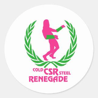 Cold Steel Renegade Classic Round Sticker