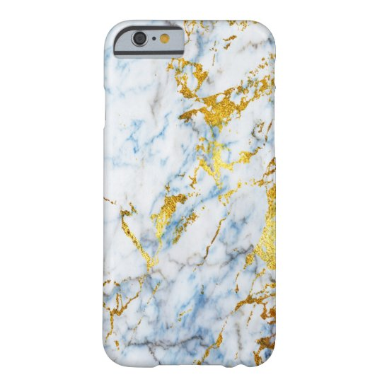 Cold Stone Blue and Gold Metalic Marble Barely