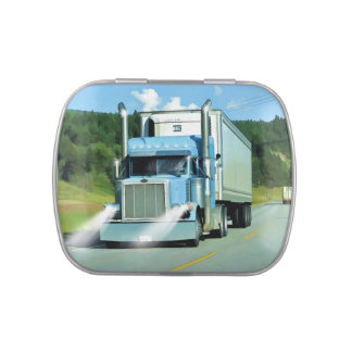 Cold-Storage Lorry for Truckers & Truck-lovers Candy Tin