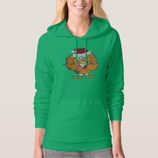 cold turkey funny christmas hoodie gift idea