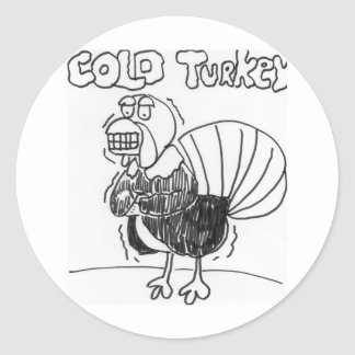 Cold Turkey Round Sticker