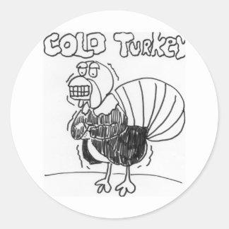 Cold Turkey Round Sticker