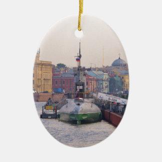 Cold War Submarine Ceramic Oval Decoration