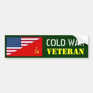 COLD WAR VETERAN BUMPER STICKER