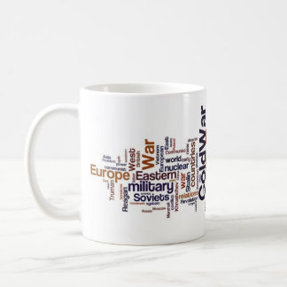Cold War Word Cloud Coffee Mug
