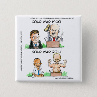 Cold Wars of 1960 And 2014 Funny 15 Cm Square Badge