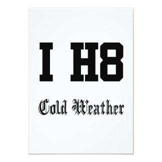 cold weather 13 cm x 18 cm invitation card